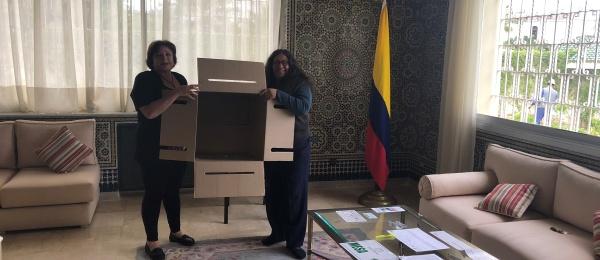 Inició la jornada electoral presidencial 2018 para la segunda vuelta en el Consulado de Colombia en Rabat